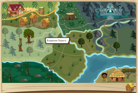 карта игры домовята