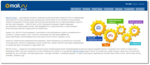 ������� �������� mail ru group