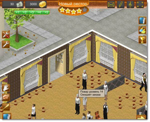 геймплей игры ресторан